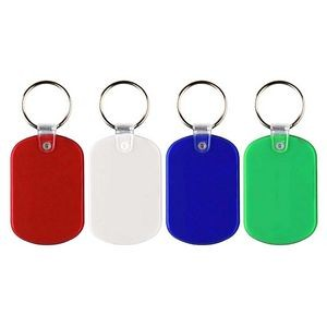 Oval Plastic Key Tag for Keychain